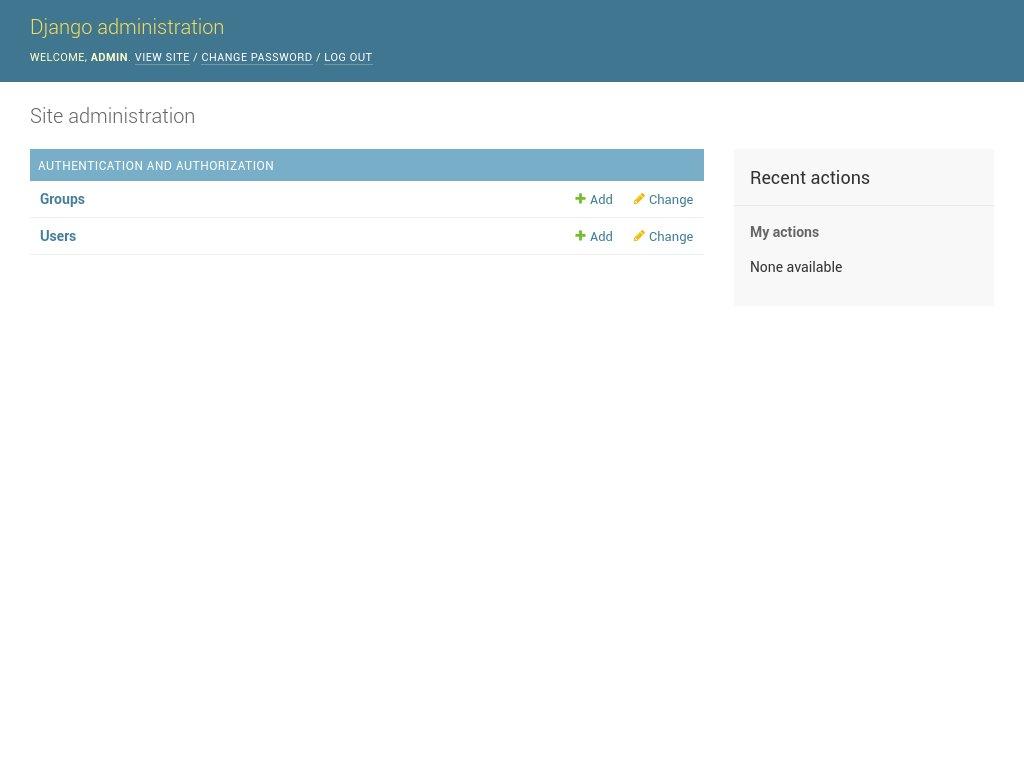 страница администратора ubuntu 18.04 django