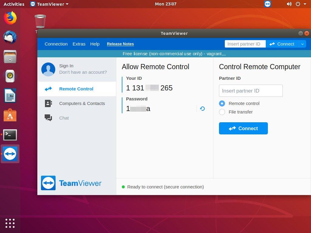 Удаленное управление Ubuntu TeamViewer