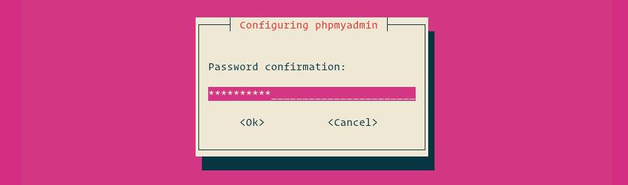 настройка phpmyadmin подтвердить пароль