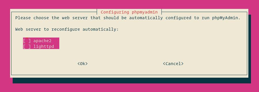 настройка веб-сервера phpmyadmin