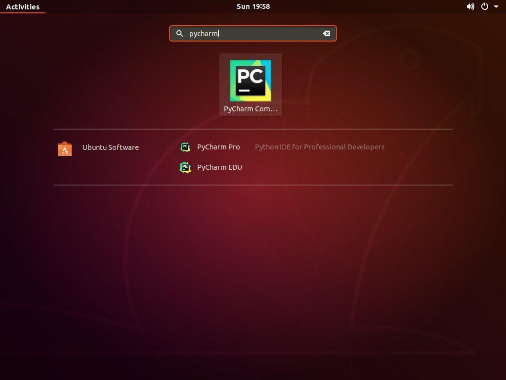 Ubuntu PyCharm Start